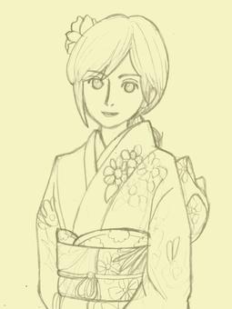 Women in kimono