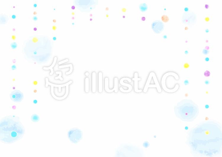 水彩画風背景素材_レイン02のイラスト