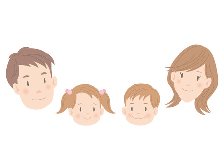 Face of family _ everyone smile