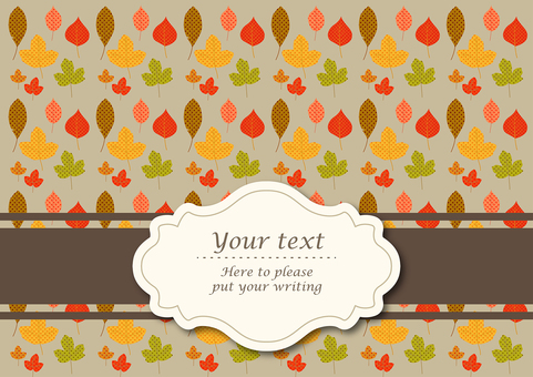 Fall patterns of autumn leaves pattern background material