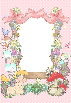 Fairy tale frame red