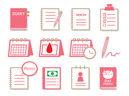 Icon set for medical, diet, memo