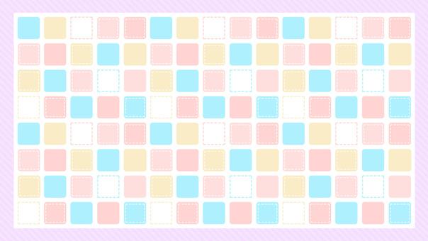 タイル 四角 カラフル ピンク 背景