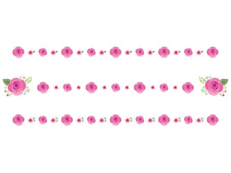 Pink rose line