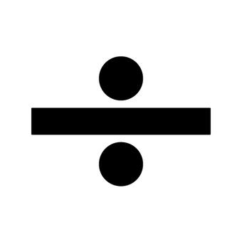 Divide mark (symbol ÷)