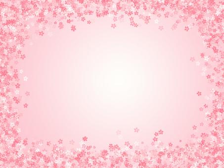 Cherry blossoms frame 05
