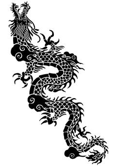 Chinese style dragon pattern (2)