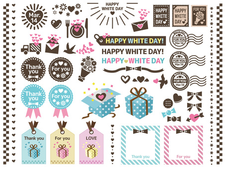 White day material collection of cutaway touch