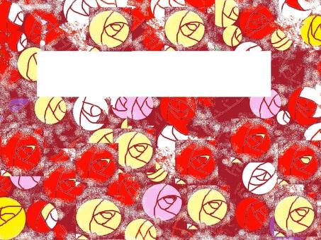 A flock of fallen roses