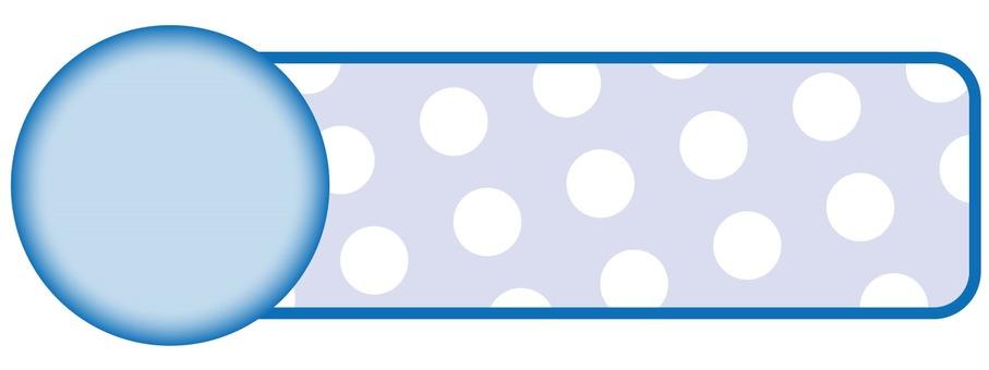 Polka dot frame (light blue)