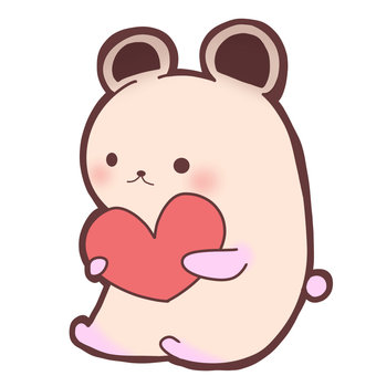 Hamster with heart