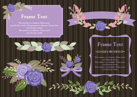 Set material 026 Purple rose frame set