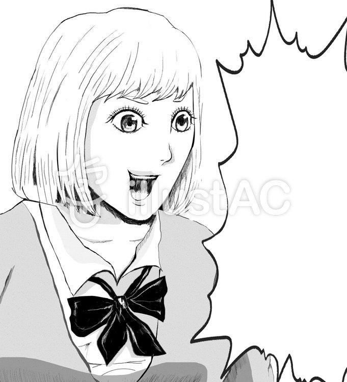 漫画イラストショートカット女の子イラスト No 822887無料