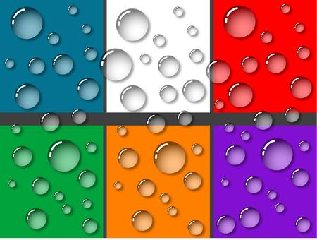Translucent water drop set illustration