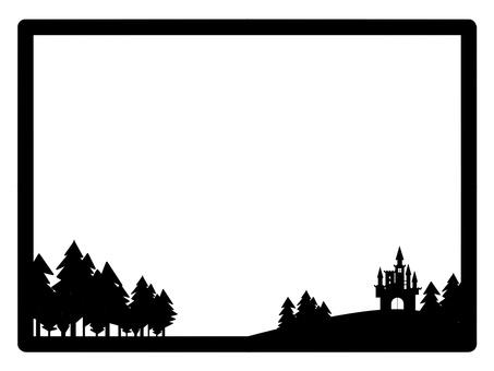 Castle western style frame