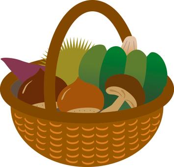 秋天的莊稼在籃子裡