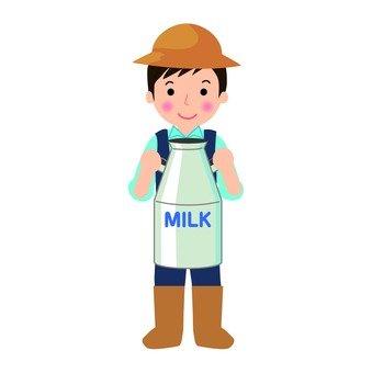 A dairyman man
