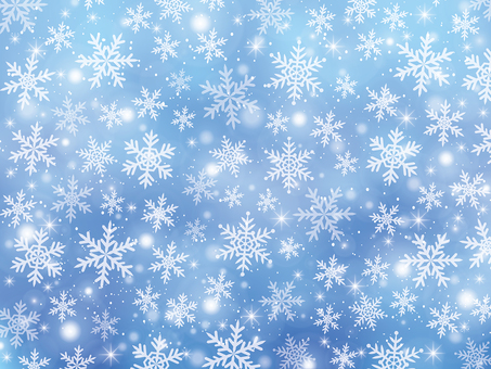 Snow crystal background material (blue)
