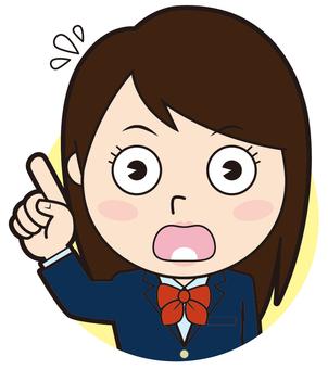 Fingering blazer girls school student (surprised)