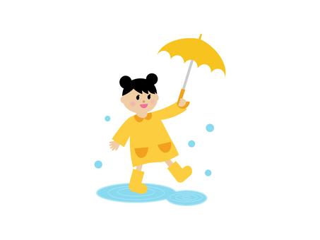 Illustration of the rainy season