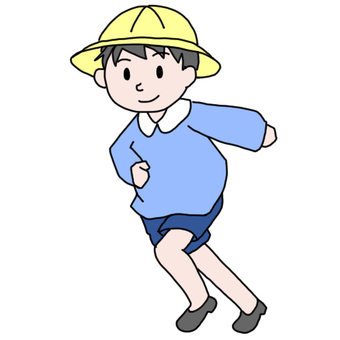 Running kids (with hat)