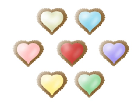 Colorful heart cookie (chocolate)