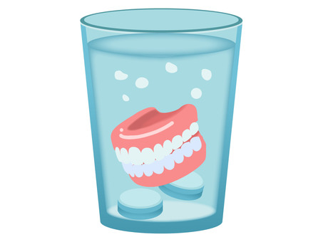 Dentures in a cup