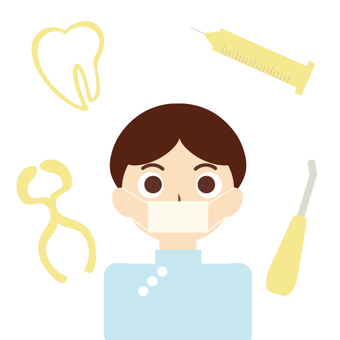 Dentist (image of dentist / tooth extraction)