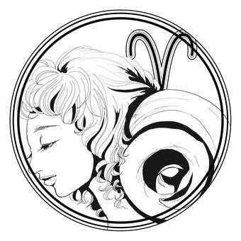 12星座シンボル【牡羊座】
