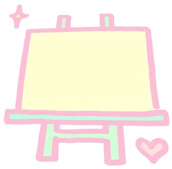 Signboard easel pop pink