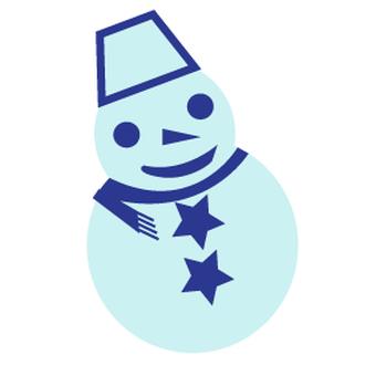 Snowman 1 100 × 100 mm