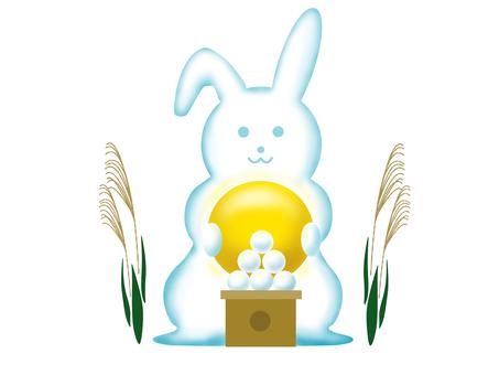 Fifteen nights cloud rabbit illustration