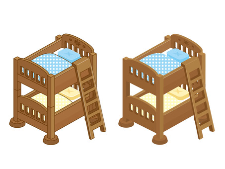 Bunk bed_ overhead view
