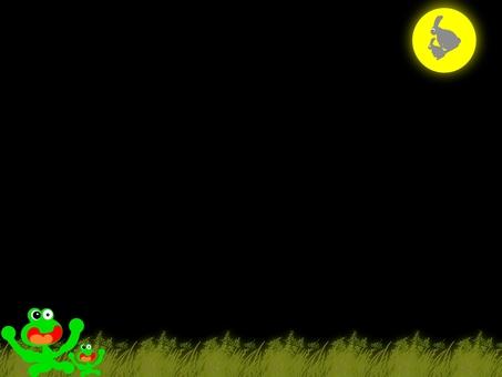 青蛙陳的父母和兒童的月亮查看公告板