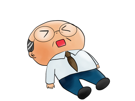 Senior man falling down