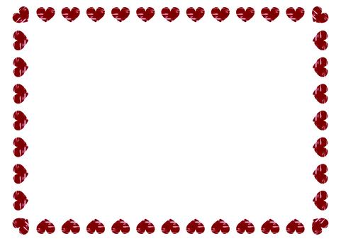 Square square heart frame 8