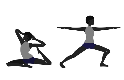 Two women of yoga pose