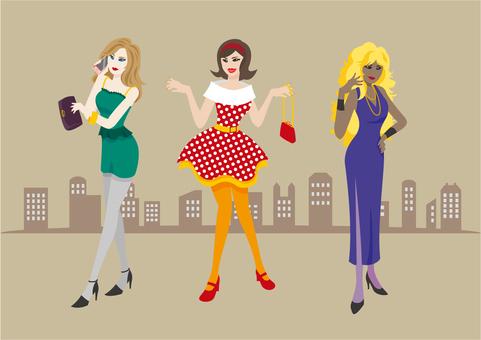 Women dressing up