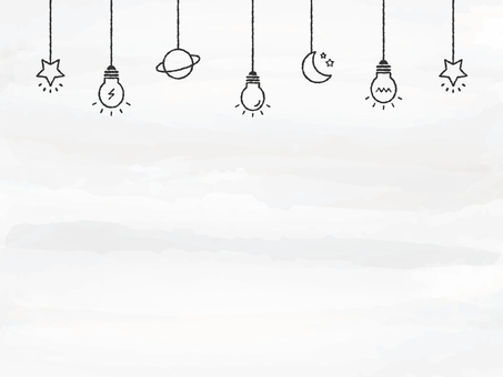 Background Watercolor Touch Light Bulb Deco Gray