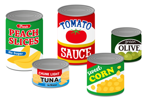 Canned food set