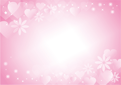 Heart and flower background
