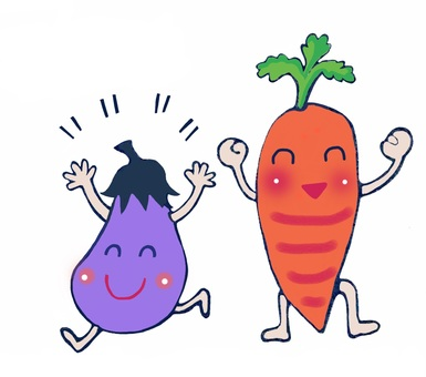 Eggplant and carrot
