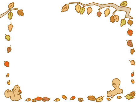 Fallen leaves and squirrels