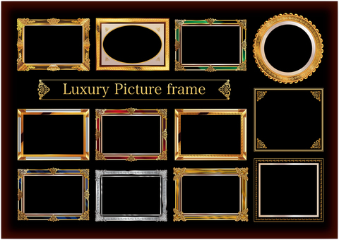 Heavy painting picture frame set