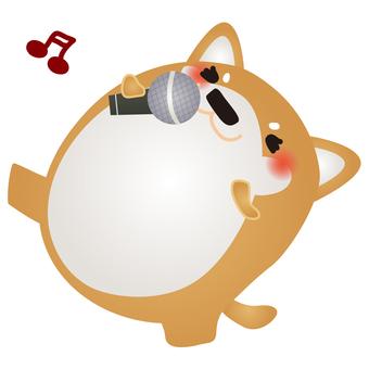 柴犬カラオケ