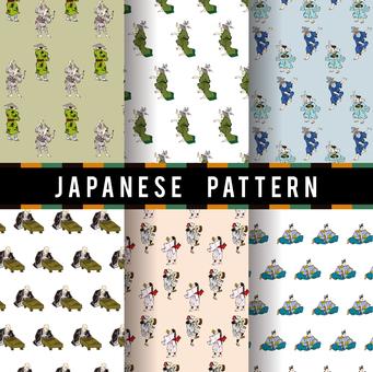 Ukiyo-e pattern 9
