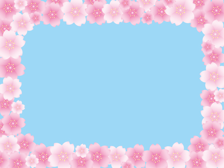 Cherry blossoms and blue sky background material