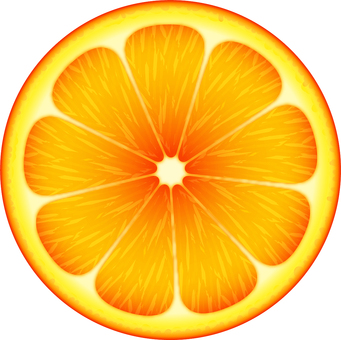 Round sliced ​​oranges 2