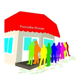 Popular pancake shop