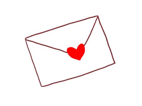 Handwritten style love letter